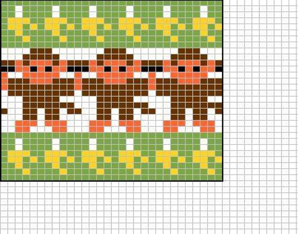 Free monkey chart (chart only!) | Craftsy | Jacquard - and mittens ...