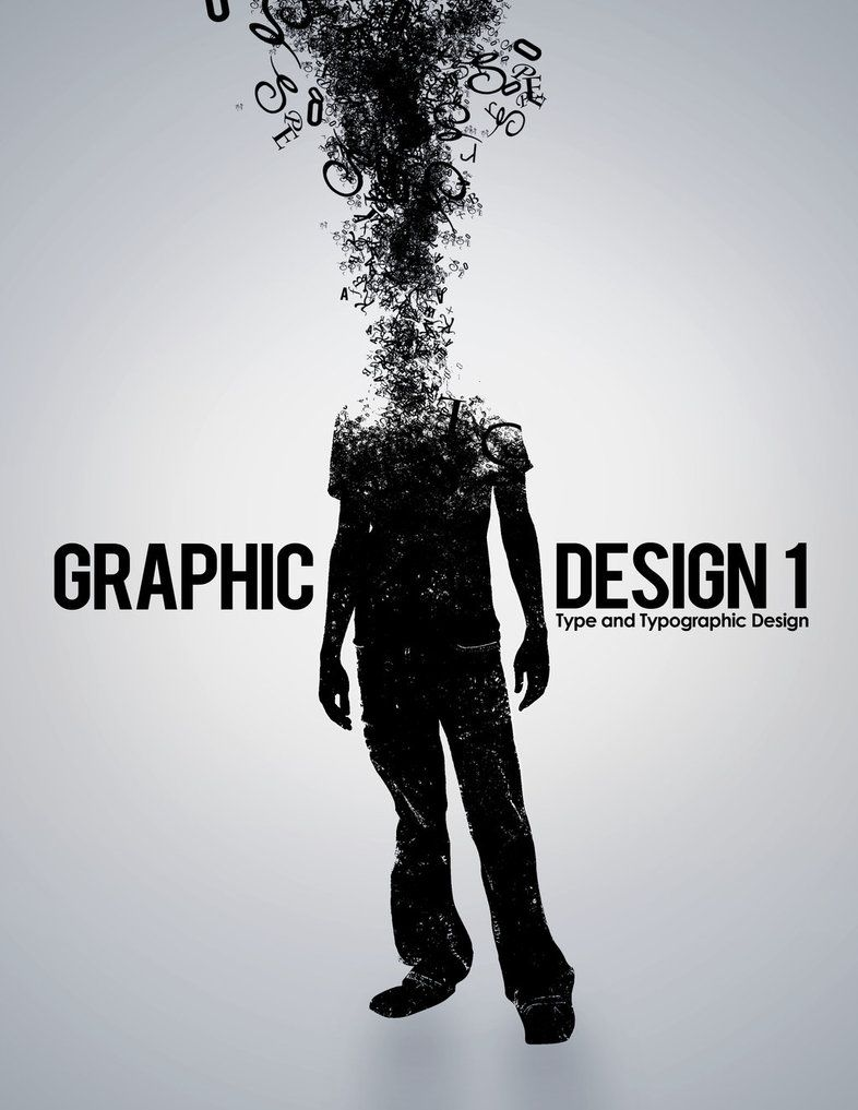 This is a unique design promoting graphic design. The fact that ...