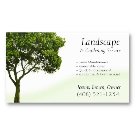 Tree or lawn care business card tree service business cards tree or lawn care business card reheart Choice Image