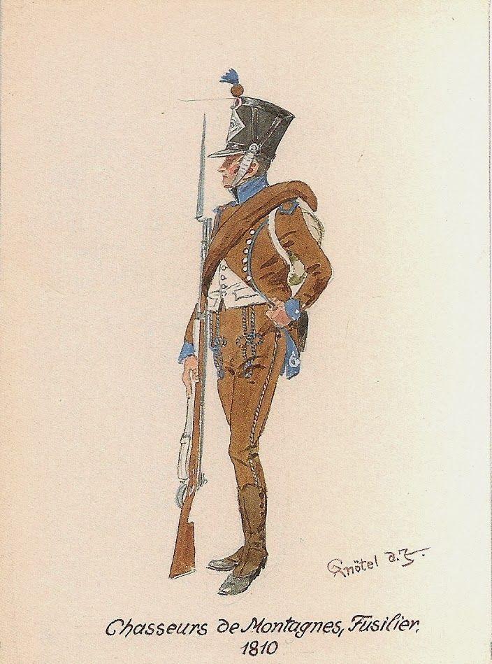 Chasseurs de montagne, fusilier, 1810