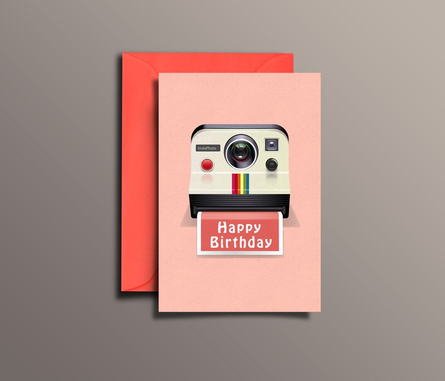 Instamatic instant Birthday wish Greeting Cards – Photographer Birthday Card