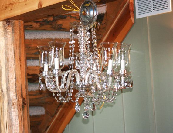 Antique 1920 S Crystal Chandelier With Prisms By Junkjunkys 950 00 Antique Lighting Crystal Chandelier Chandelier