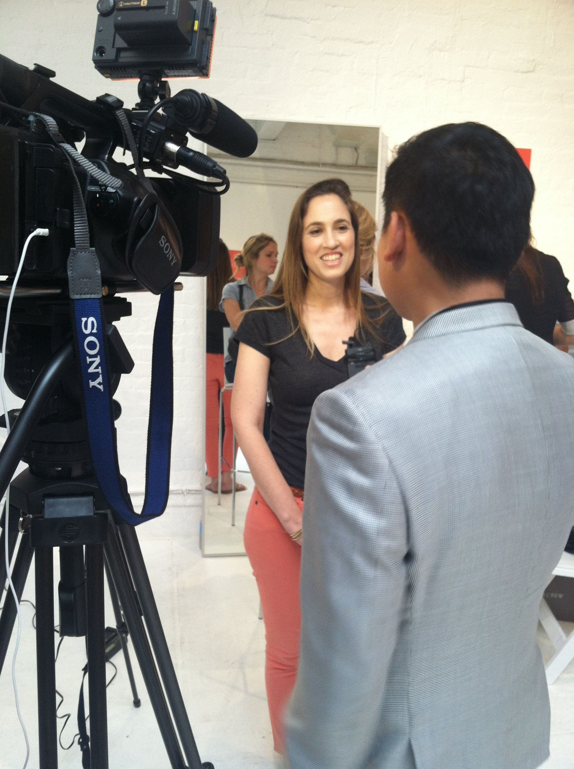 Efrat KashtiLev of GlossyBox getting interviewed by MBC