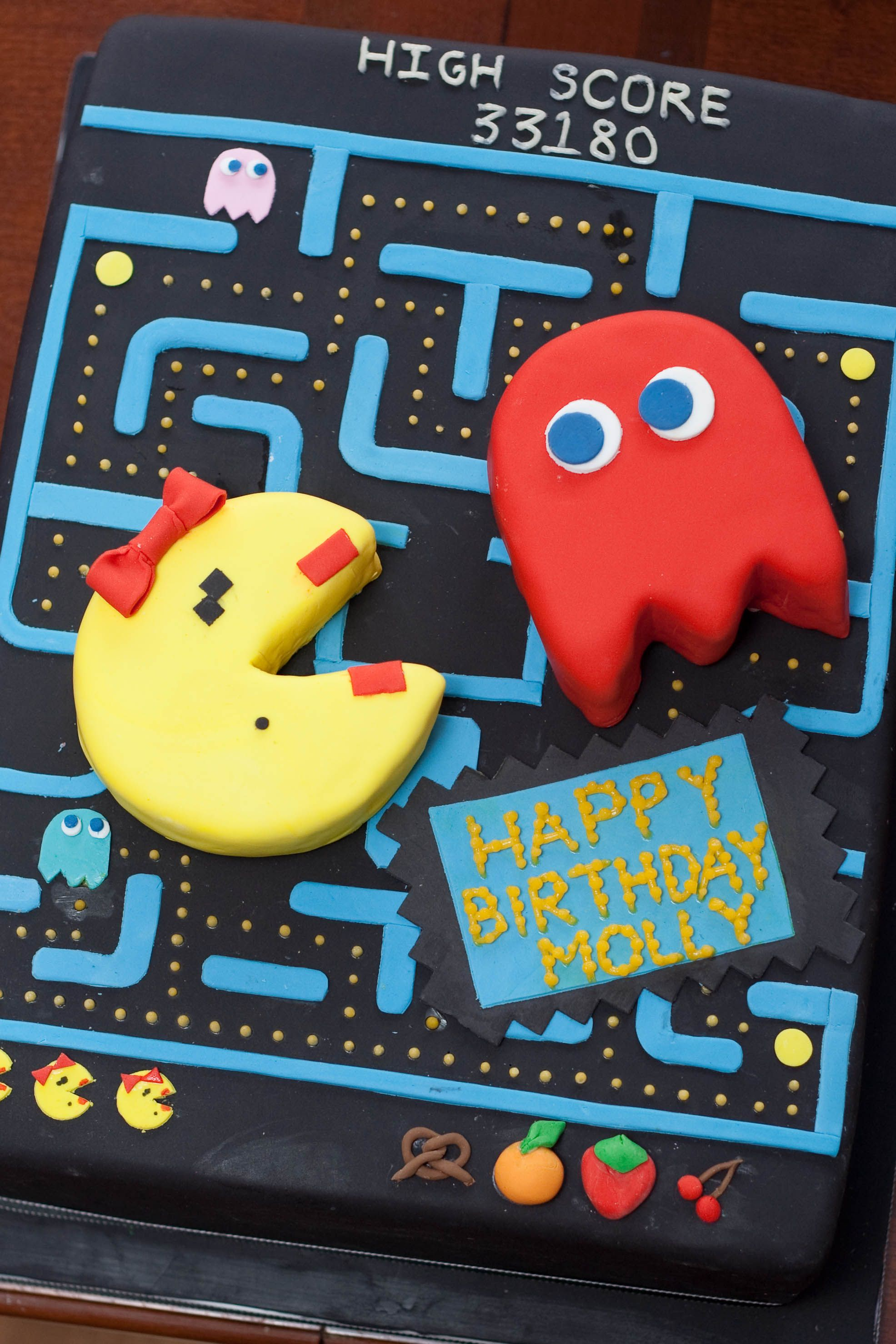 Ms Pacman Birthday Cake My Favorite Part Of This Cake Was The