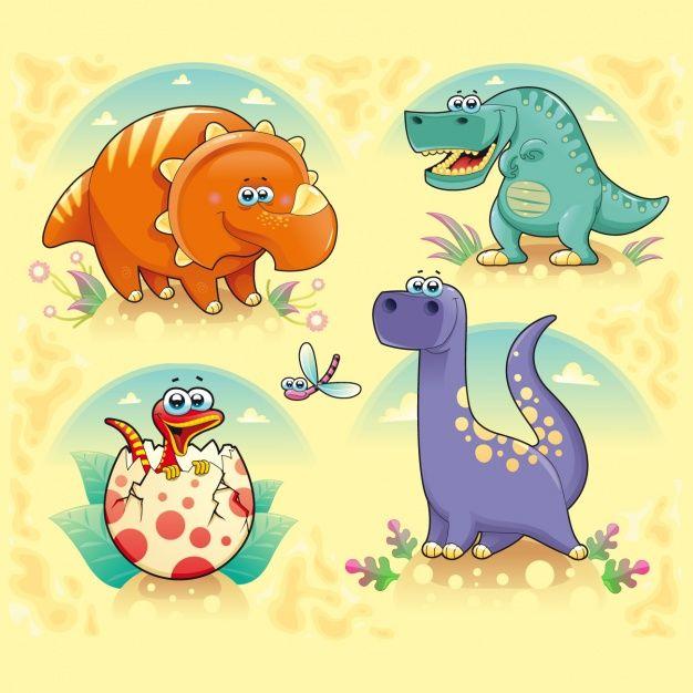 Скачивайте Коллекция цветное динозавры бесплатно | Dinosaur, Dinosaur funny,  Cartoon dinosaur