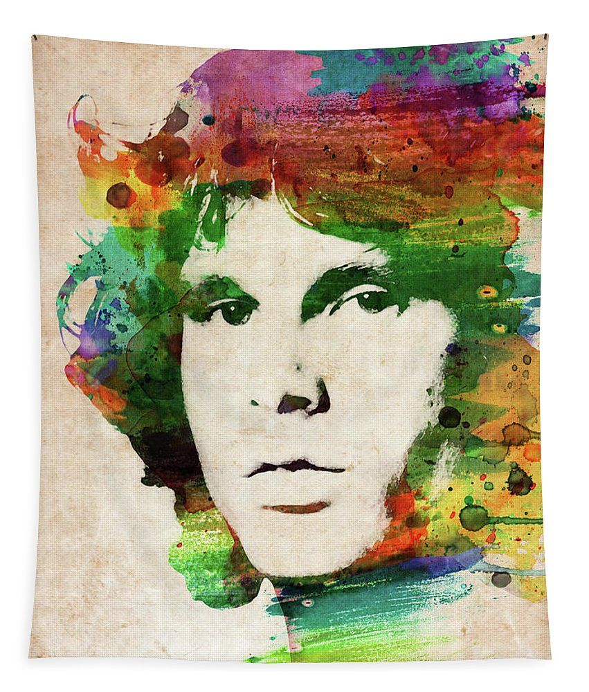 various sizes available JIM MORRISON watercolor portrait print! POSTER