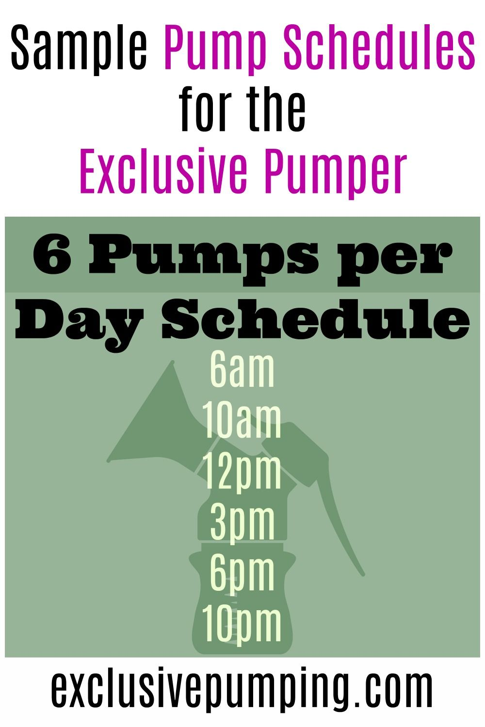 Sample Pumping Schedules in 2020 (With images) Pumping
