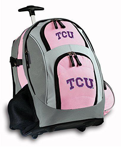 TCU Logo Rolling Backpack Texas Christian University or Ladies ...