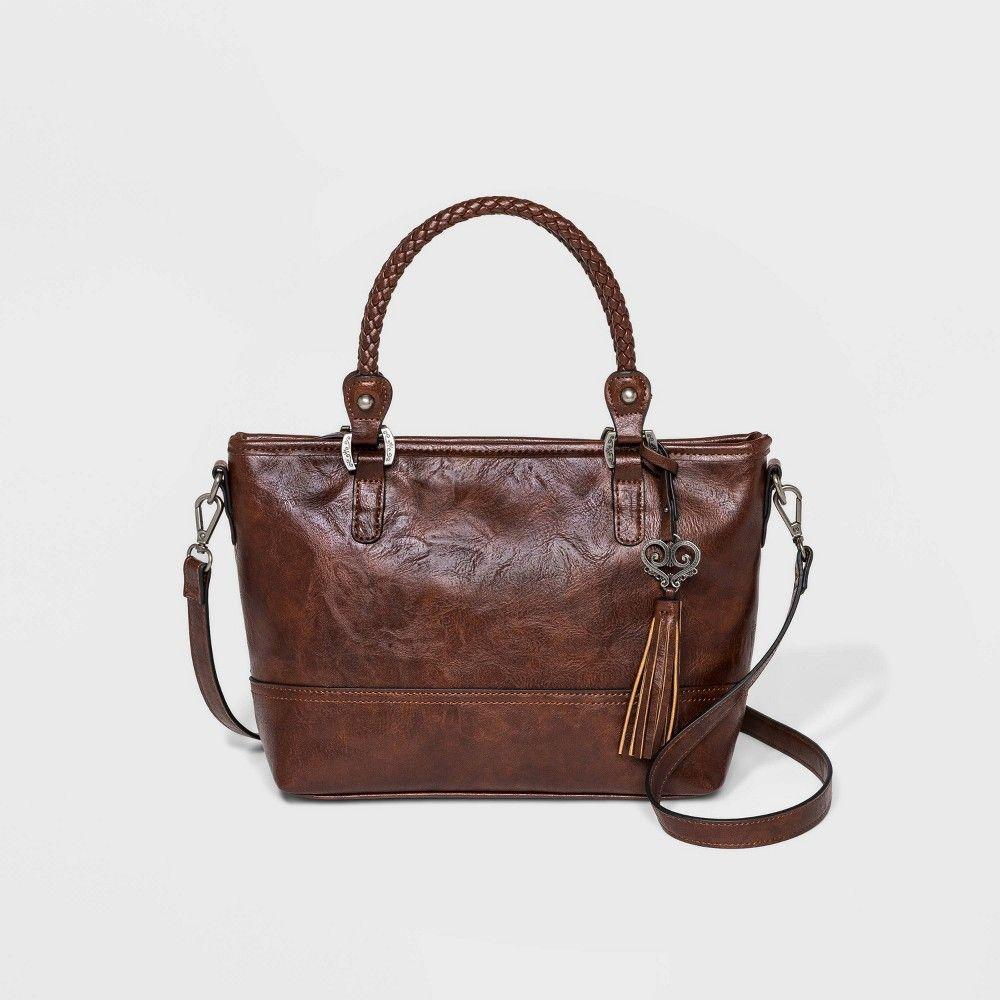 Bueno Zip Closure Satchel Handbag Brown Women S Satchel