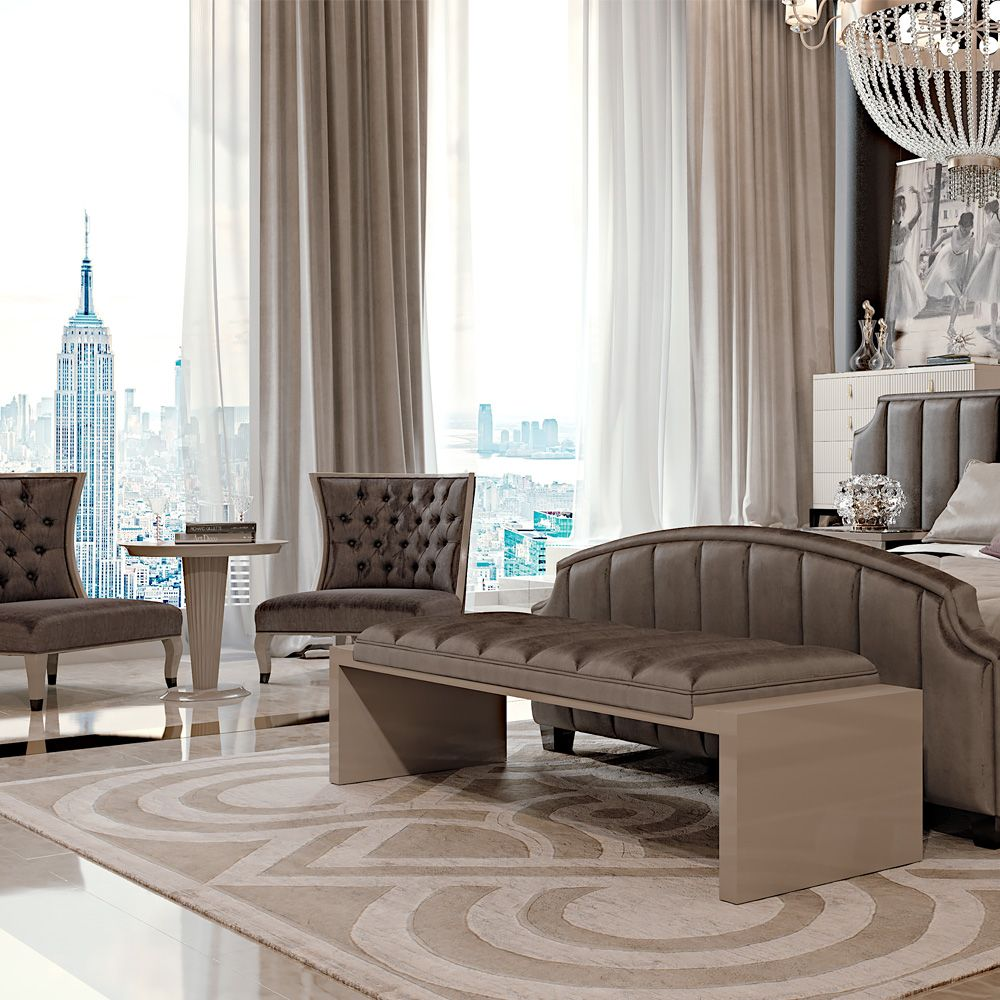 High End Italian Art Deco Inspired Handmade Rug Bedroom