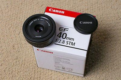 Canon EF 40mm f/2.8 STM Pancake Lens with Tiffen UV Filter