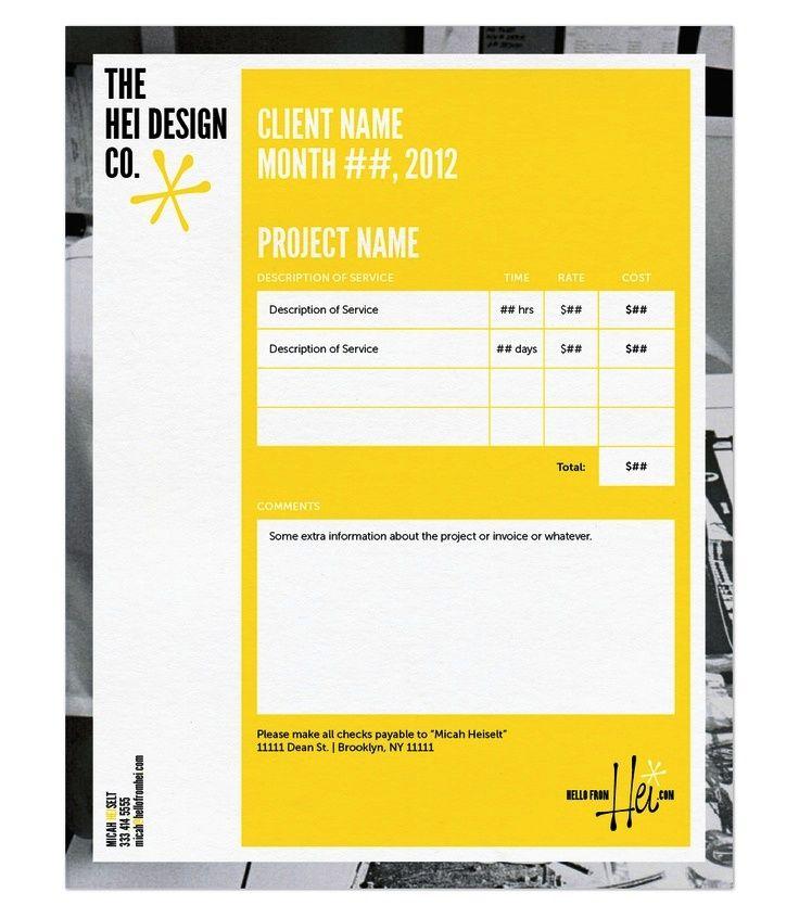 Contoh Desain Invoice Faktur Tagihan 17 Work Invoice Design