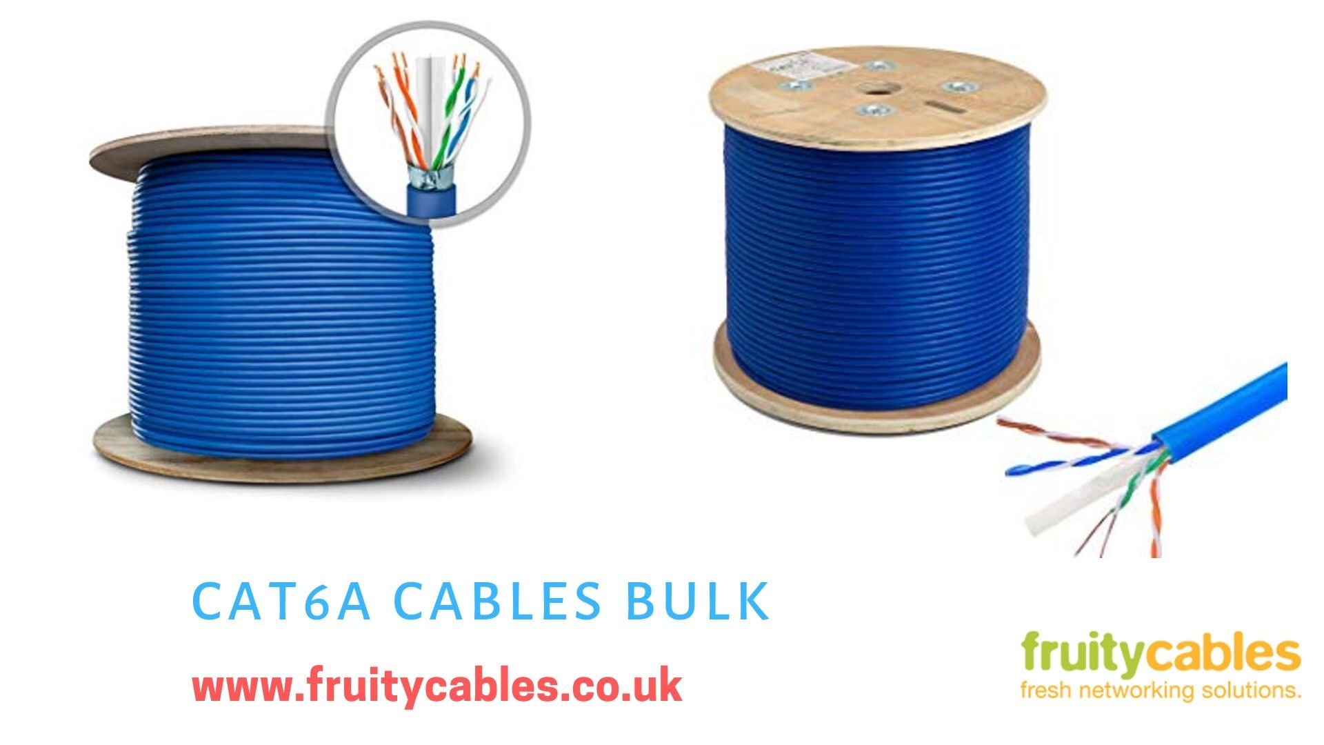 Cat6a cables are designed to support highbandwidth and