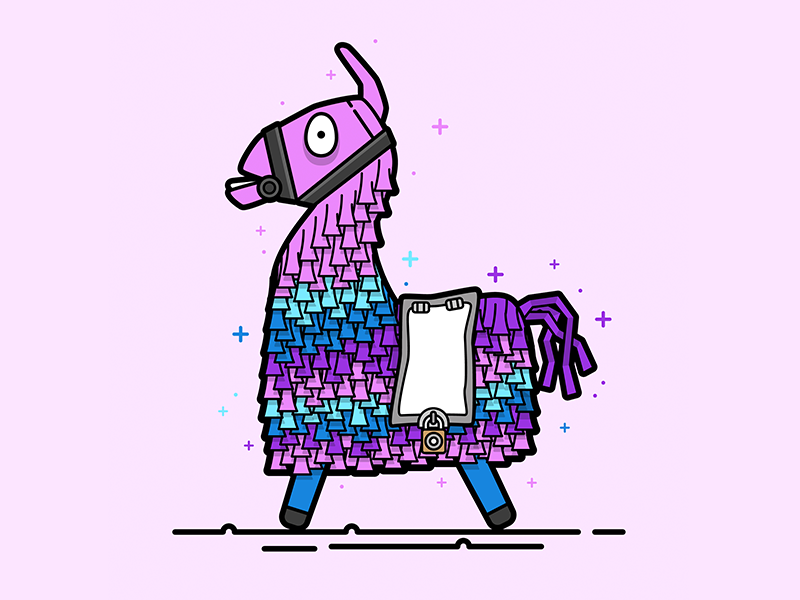 Fortnite Loot Llama Vector Illustration Lineart Gaming Loot Illustration Animal Vector Llama Fortnite Llama Pictures Llama Drawing Llama Images