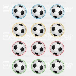 Futbol Edible Cupcake Toppers (12 Images) Cake Image Icing Sugar Sheet Edible Cake Images #pictureplacemeant