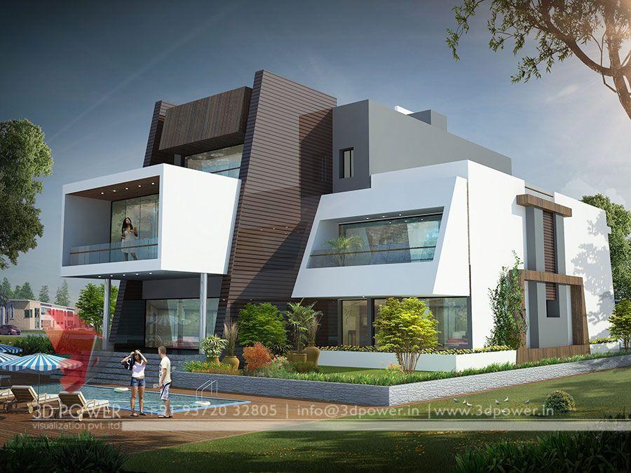 Crossed houses google s gning shrubs khadka for Villa style moderne