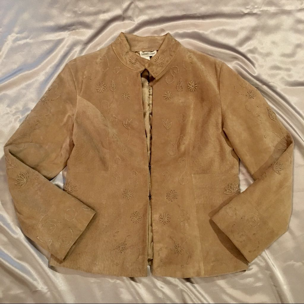 Rare Style Coldwater Creek 100% Leather Jacket
