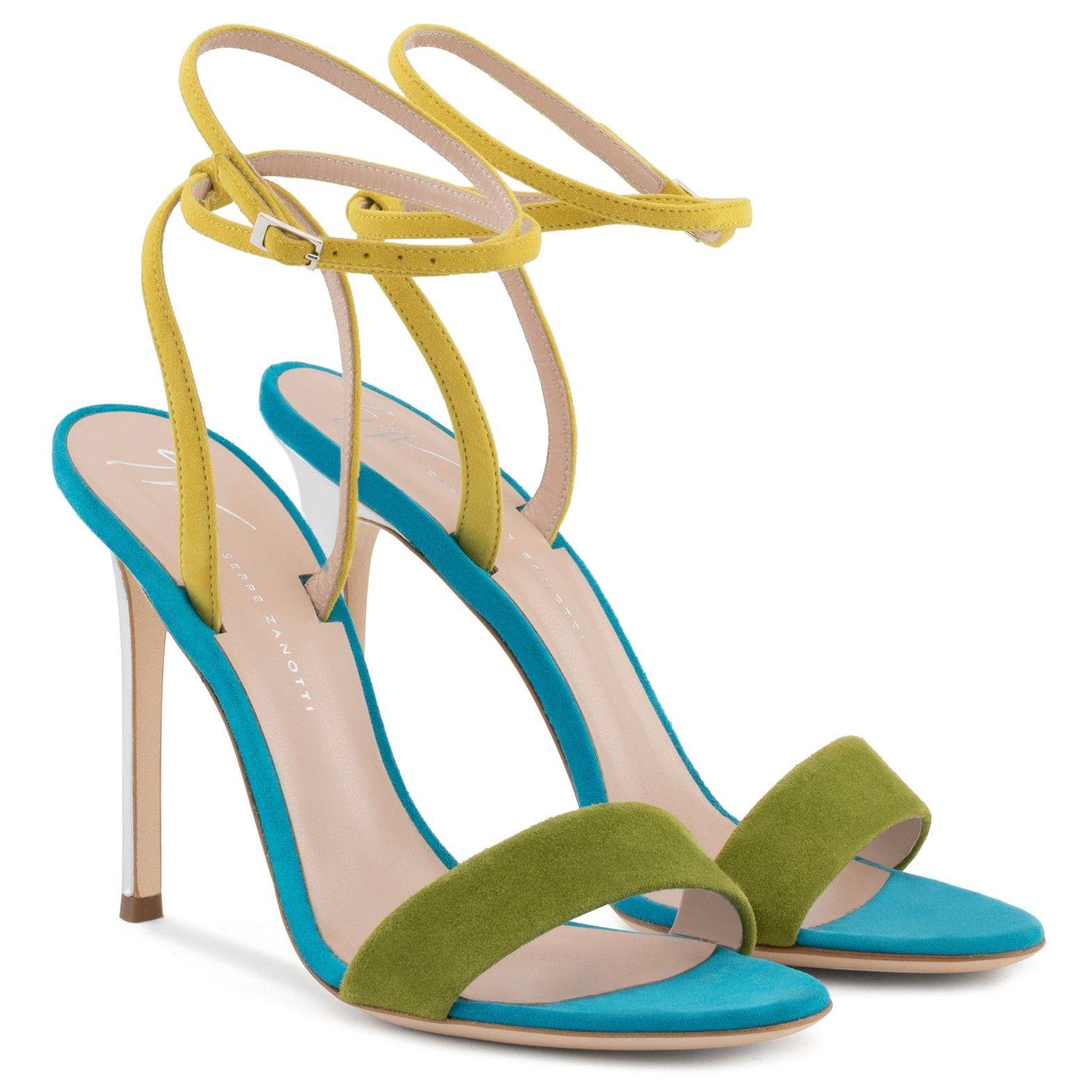 Giuseppe Zanotti Blue and purple suede sandal GEORGINA VNN1i