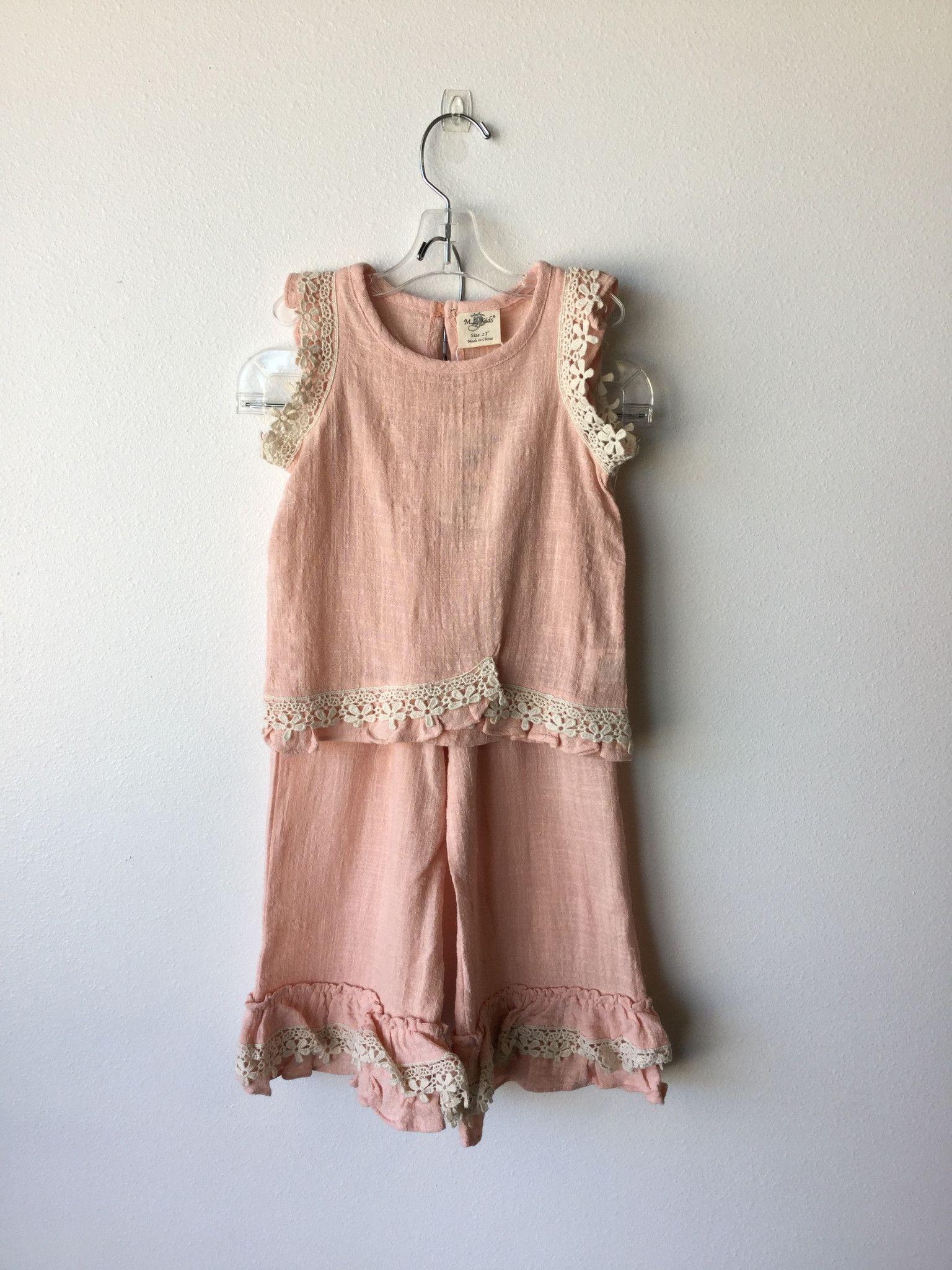 Blush Ruffle Lace Pant
