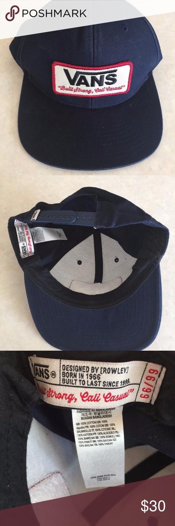 Vans Blue Fabric Patch Snapback Hat