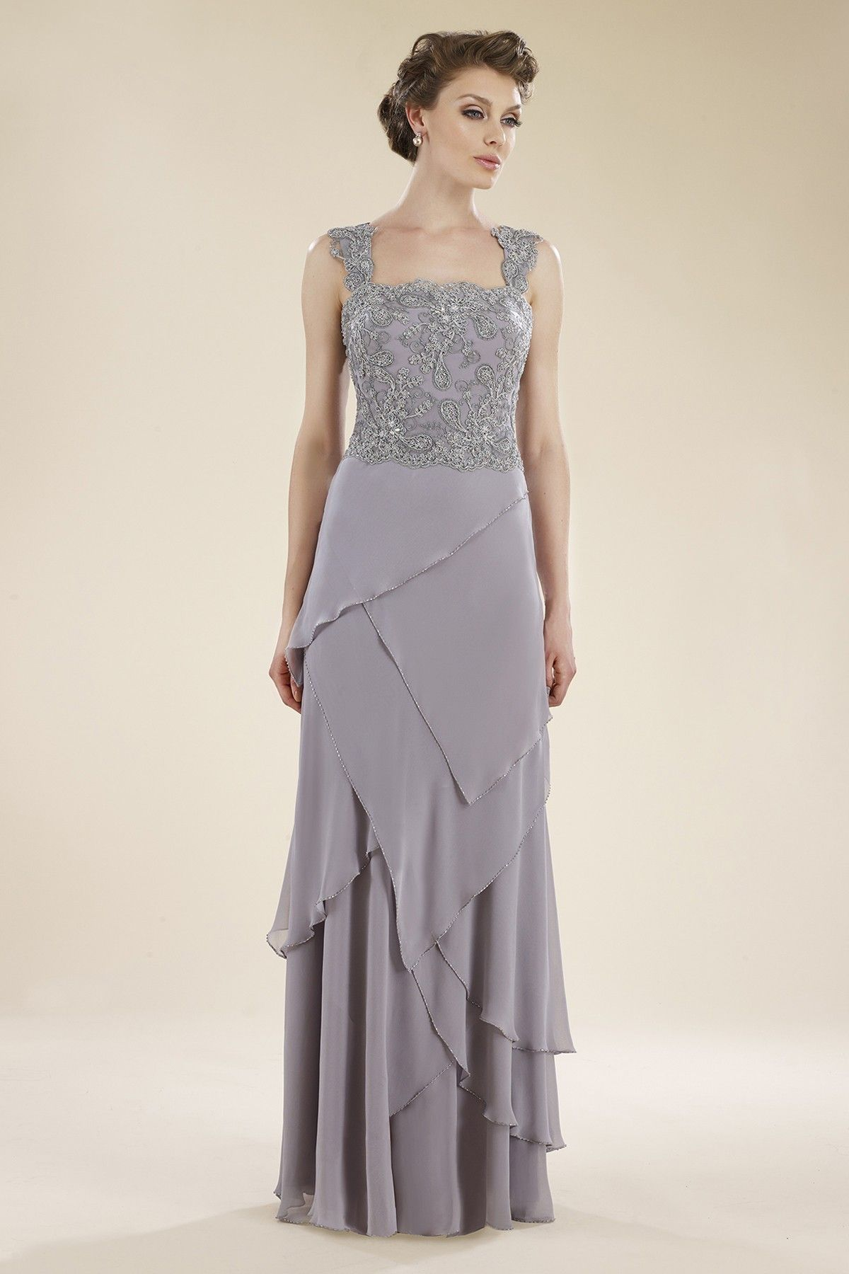 Wedding dresses for mother of the bride  SheathColumn Straps Floor Length LaceChiffon Crystal Pink