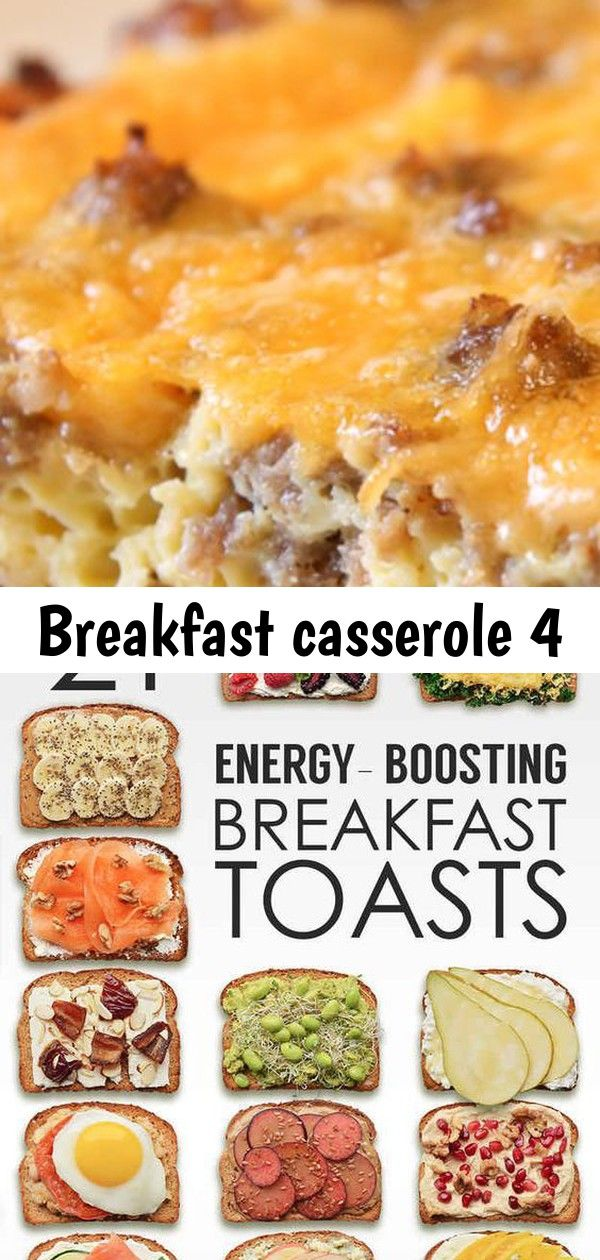 Breakfast casserole 4 This easy Sausage Egg Casserole is our favorite breakfast casserole recipe Only 4 ingredients and you can make this overnight breakfast casserole th...