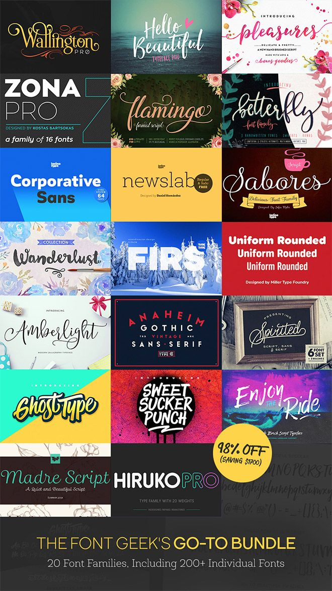 Download Own This Font Library Worth $1,721 for Just $29 (98% off ...