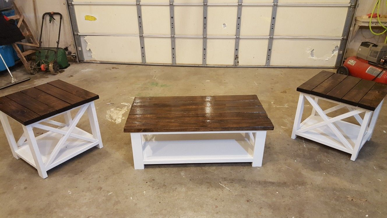 Rustic X Coffee Table And End Tables X Coffee Table Coffee Table Pallet Coffee Table