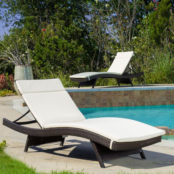 Salem Outdoor Chaise Lounge Cushion (Set of 2) by ...