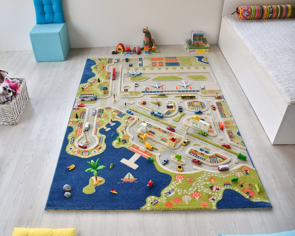 Dimensions 59x86 5 Inches Direct From The Creators Of Ivi Rugs Ivi Kids Rugs Are Designed With Your Child S Healthy Development And Kids Rugs Road Kids Rugs