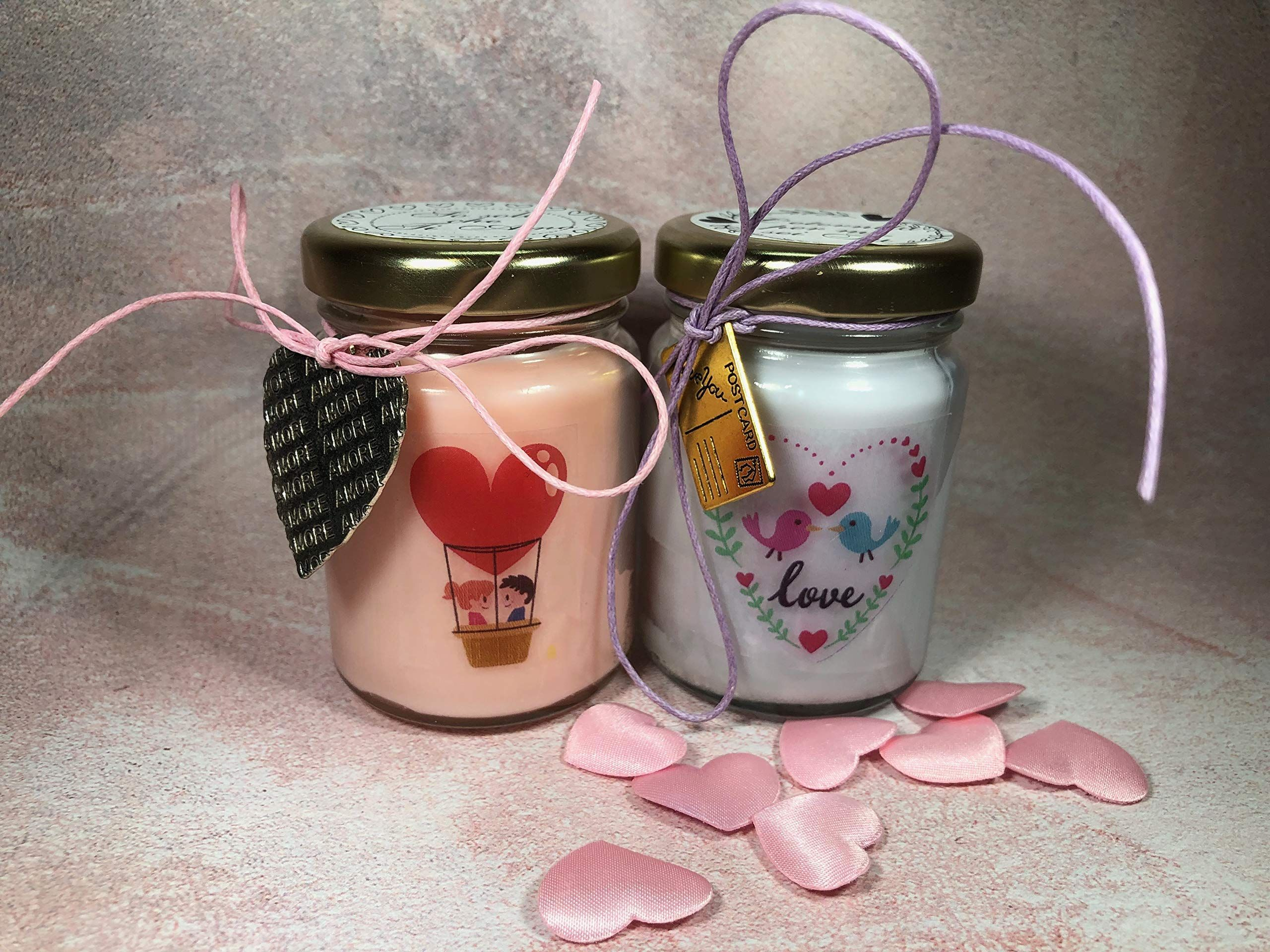 Regalo Anniversario Matrimonio Zii.Ti Amo Frasi D Amore 2 Vasetti Con Candele Di Cera Di Soia E Oli