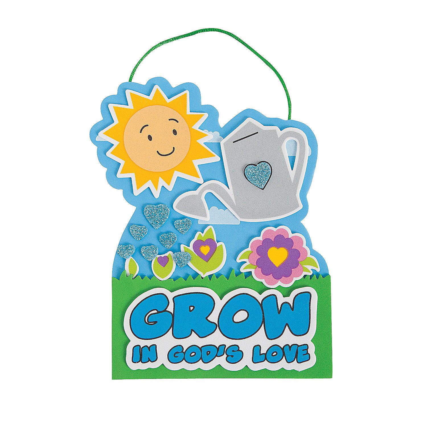 Oriental trading christian crafts - Grow In God S Love Sign Craft Kit Orientaltrading Com