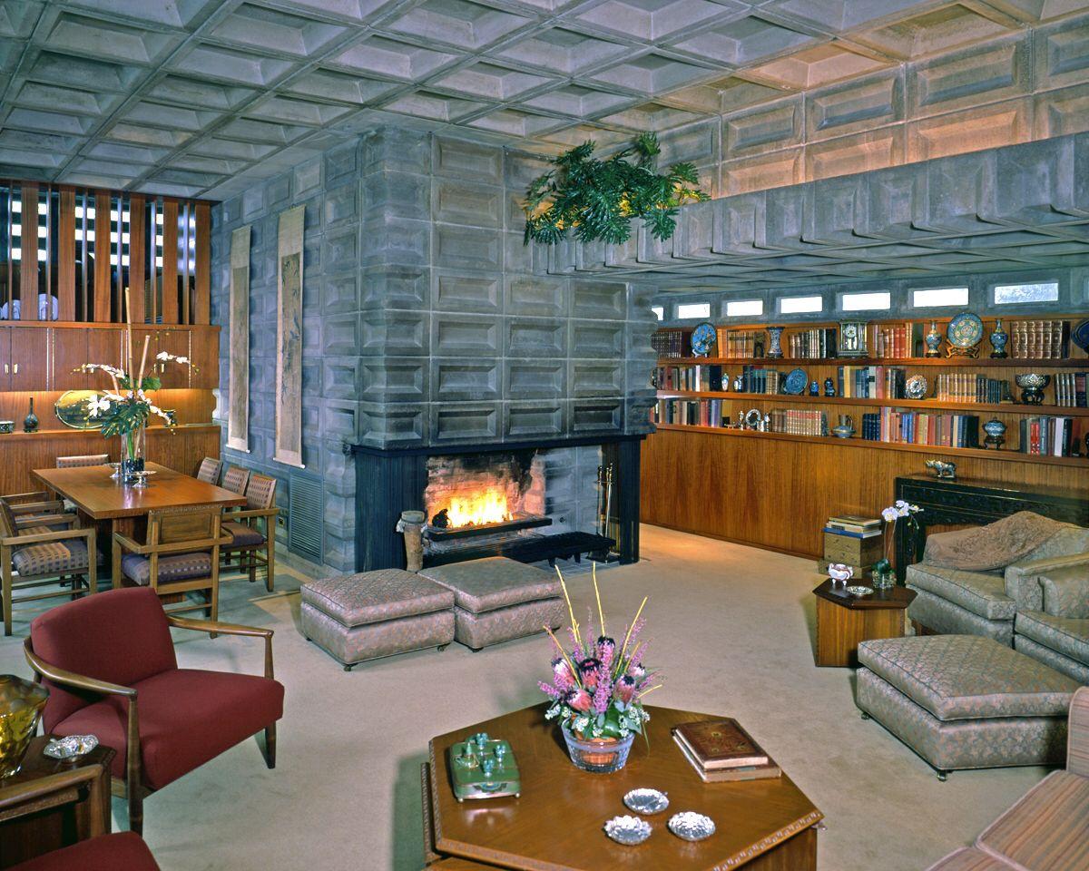 A Frank Lloyd Wright Interior Design.