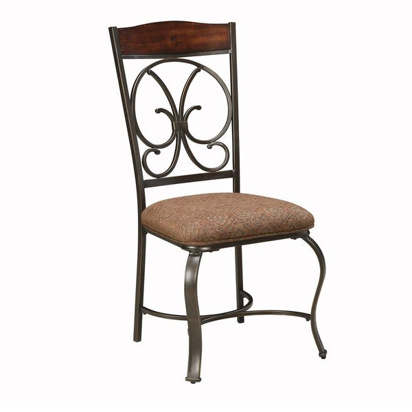 Signature Design by Ashley Glambrey Brown Upholstered Side Chair (Set of 4)
