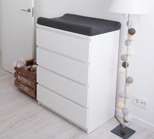 Comoda malm cambiador habitacions pinterest malm - Comoda blanca ikea ...
