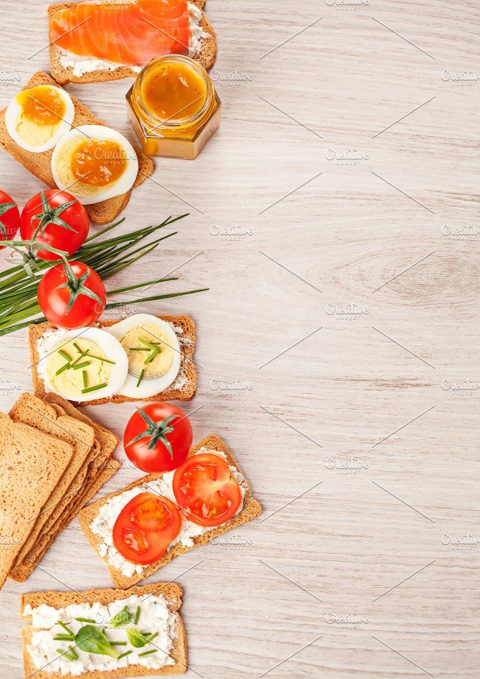 Wallpaper Food Cooking Grill Vegetables Peppers: Tasty Canapes Food Border Background By Olha Klein On