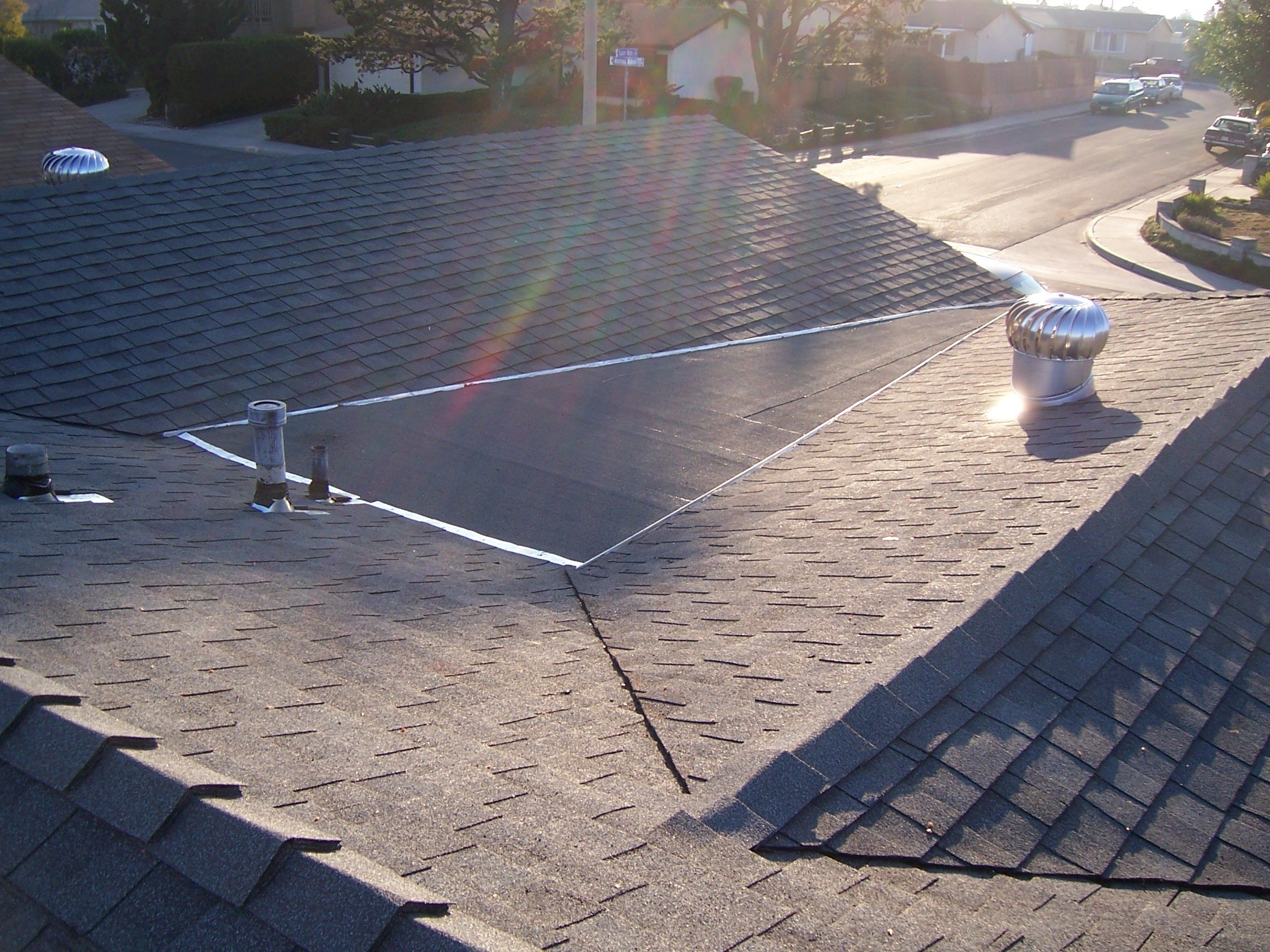 Note Add A Cricket Between 2 Roof Peaks To Direct The