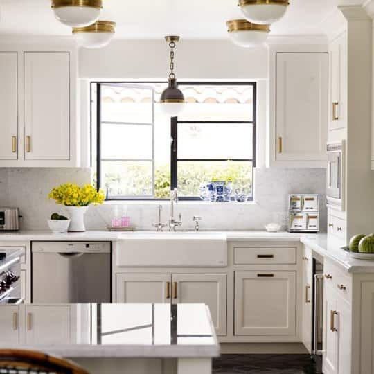 Get the Look: Brass Kitchen Cabinet Pulls   Kitchen ...