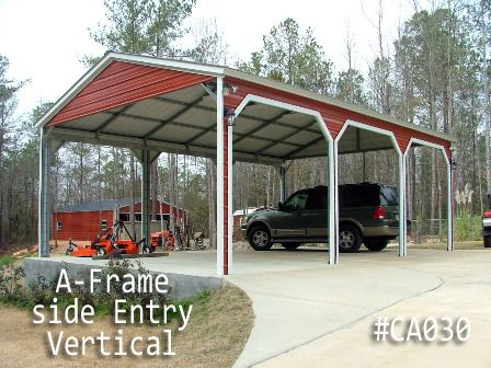 Custom Metal Carports Built By Coast To Coast Carports Metal Carports Steel Carports Carport Designs