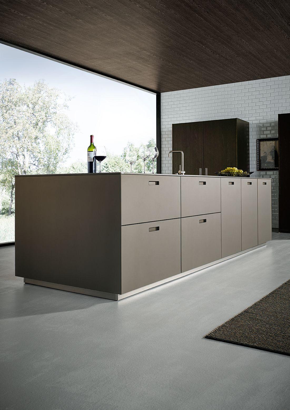 NX 902 Glass matt platinum metallic Küchendesign modern