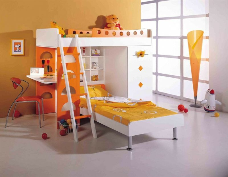 Hochbett für Schlafzimmer und Kinderzimmer spart Platz #hochbett ...