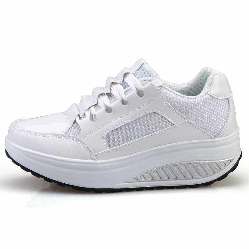 White pleated leather rocker bottom shoe sneaker  3bc9ae052456