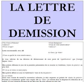 Modele Lettre De Demission Avec Preavis En Word Doc Download