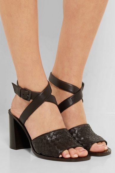 Bottega Veneta Intrecciato Ankle Strap Sandals pay with visa pay with paypal cheap price discount for cheap cheap online store Manchester JN18SgHpD