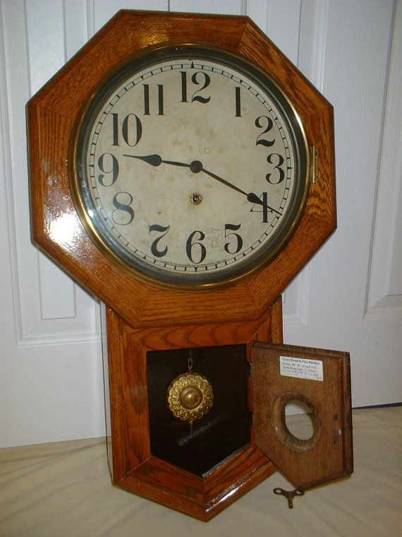 Rare Antique Sessions Clinton Schoolhouse Wall by pbClocks on Etsy