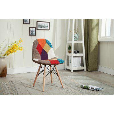 Hodedah Imports Patchwork Studio Chair Studio Chairs Furniture