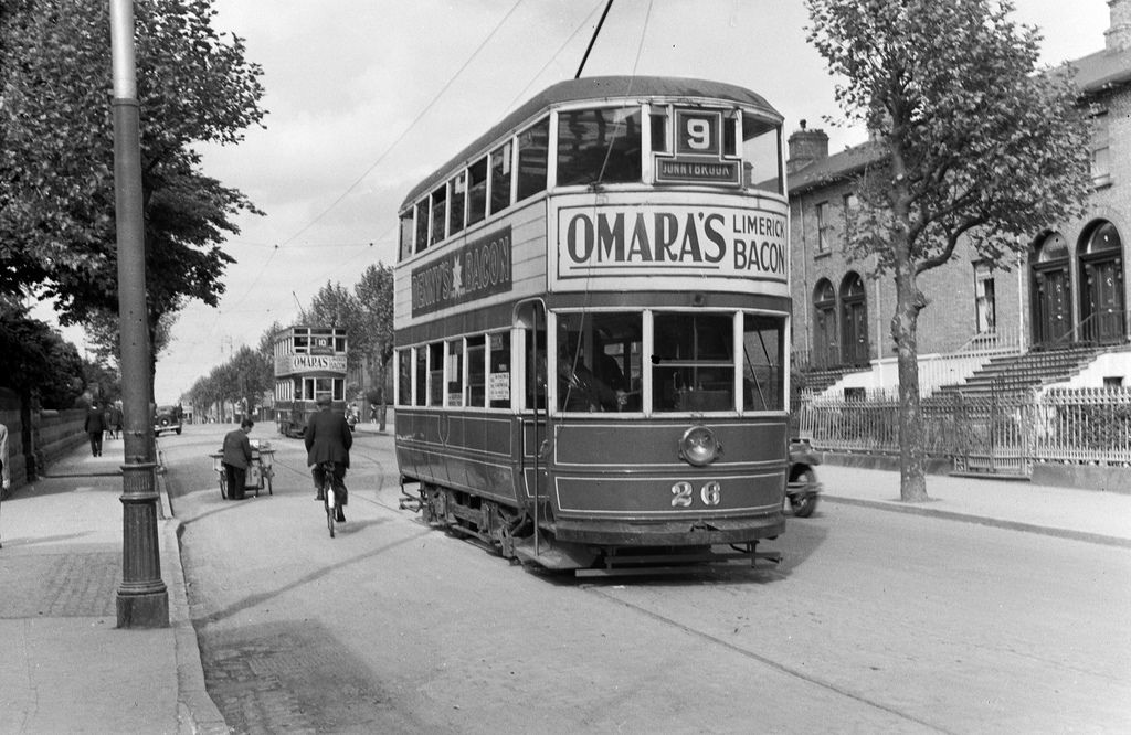 No. 9 to Donnybrook | Trams on the North Circular Road Dublin between June 1937 & 1 June 1940.