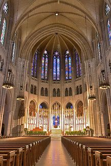 The Nave Of Riverside Church In City New York I Want To Go On Day A Week