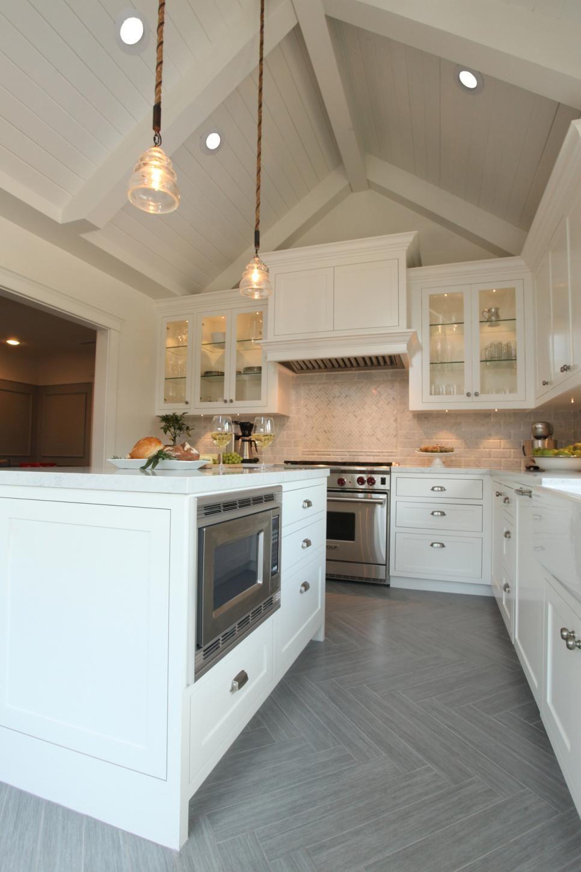 Modern Farmhouse Kitchen Features Herringbone Floor ...