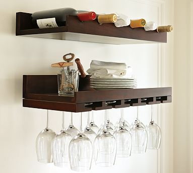 pottery barn wine glass shelf.